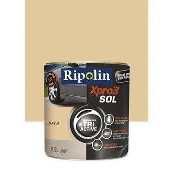 Peinture sol extérieur / intérieur Xpro 3 RIPOLIN, sable, 0.5L