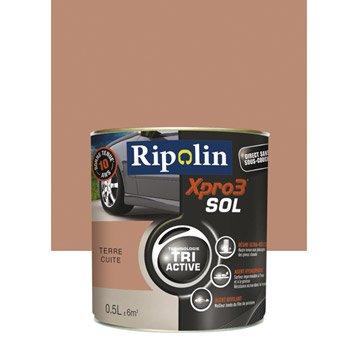 Peinture sol extérieur / intérieur Xpro 3 RIPOLIN, terre cuite, 0.5L