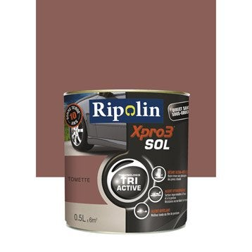 Peinture sol extérieur / intérieur Xpro 3 RIPOLIN, tomette, 0.5L