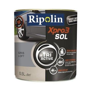 Peinture sol extérieur / intérieur Xpro 3 RIPOLIN, gris loft, 0.5 l