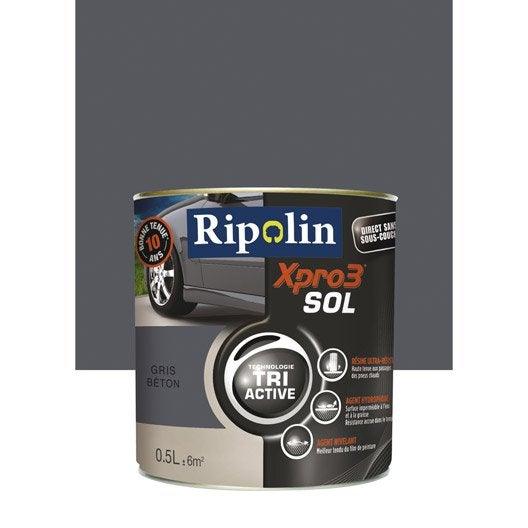peinture sol ext rieur int rieur xpro 3 ripolin gris b ton 0 5 l leroy. Black Bedroom Furniture Sets. Home Design Ideas