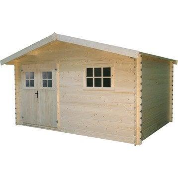 Abri bois Vannes 2, 9.97 m² Ep.28 mm