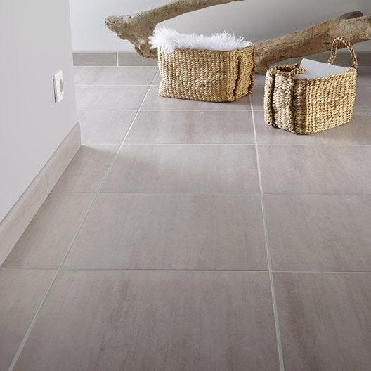 Carrelage sol et mur gr ge effet b ton eiffel x for Carrelage style marbre