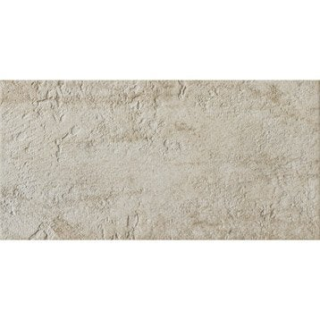 Carrelage sol et mur crème, Vestige l.30 x L.60 cm