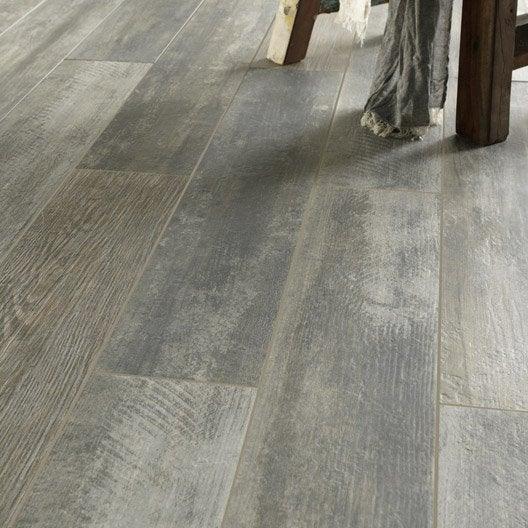 carrelage sol et mur gris us ash effet bois rekup x cm leroy merlin. Black Bedroom Furniture Sets. Home Design Ideas
