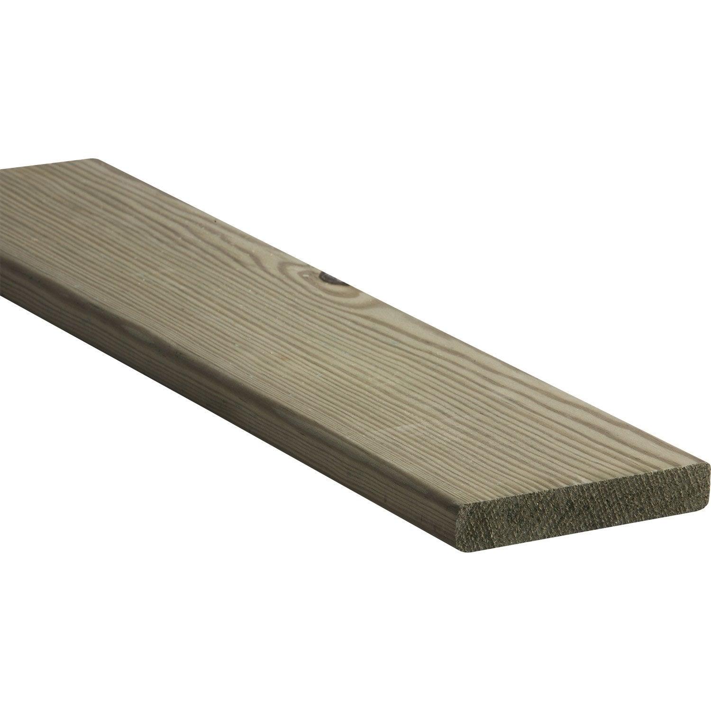 Bois Pour Exterieur Classe 4 planche pin traité, 22x120 mm, longueur 3 m, choix 2, classe 4