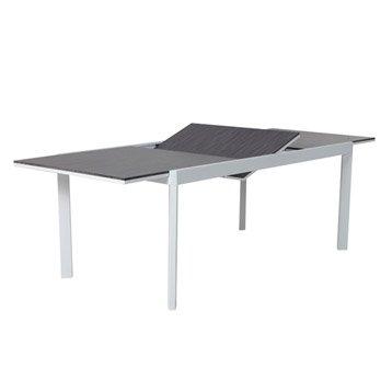 Table de jardin NATERIAL Marbella rectangulaire gris 6 personnes