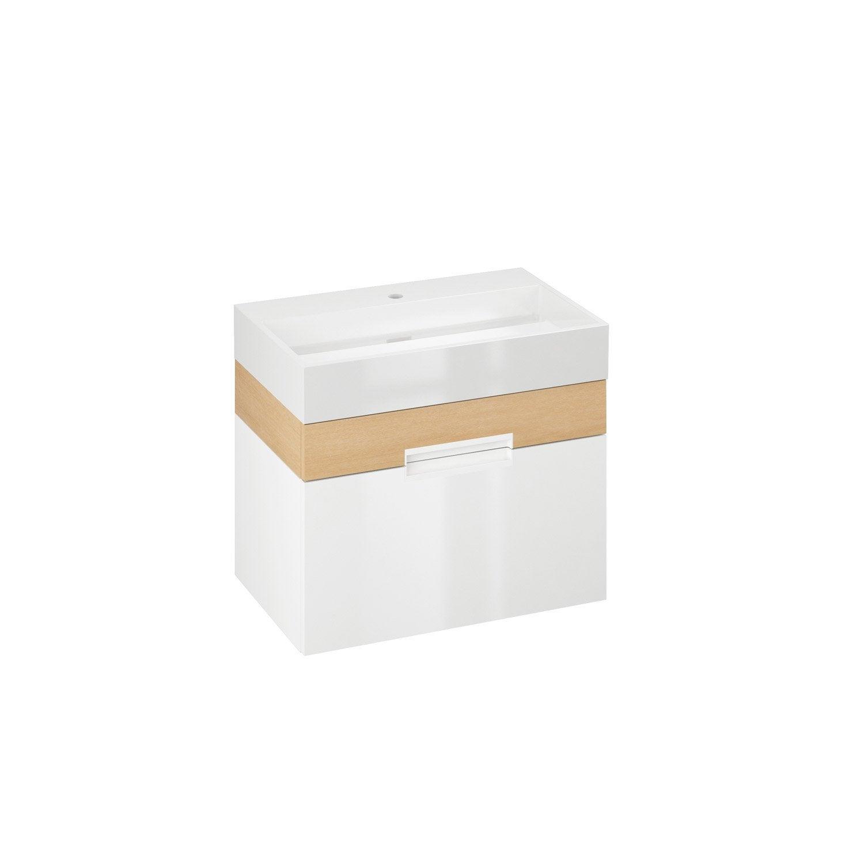 meuble vasque 70 cm blanc eden leroy merlin. Black Bedroom Furniture Sets. Home Design Ideas