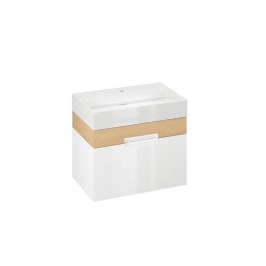 Meuble vasque 70 cm blanc eden leroy merlin - Meuble salle de bain 70 cm largeur ...