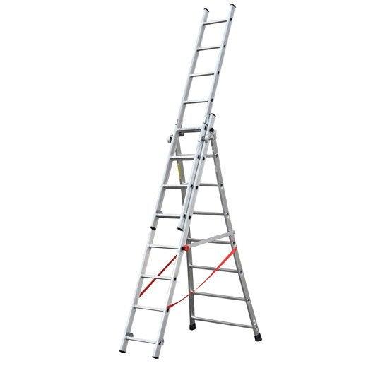 echelle  echelle télescopique échelle de toit  leroy merlin