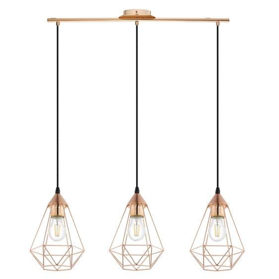 suspension e27 style industriel byron d17 5 m tal cuivre 3 x 60 w inspire leroy merlin. Black Bedroom Furniture Sets. Home Design Ideas