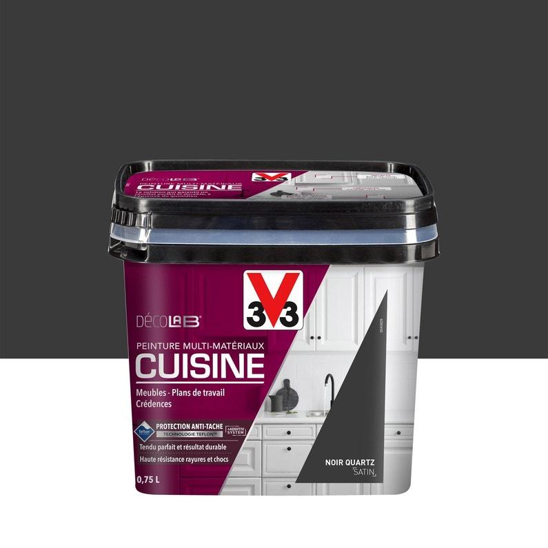 Peinture Cuisine Meubles Crédences V33 Noir Quartz 075 L Satin