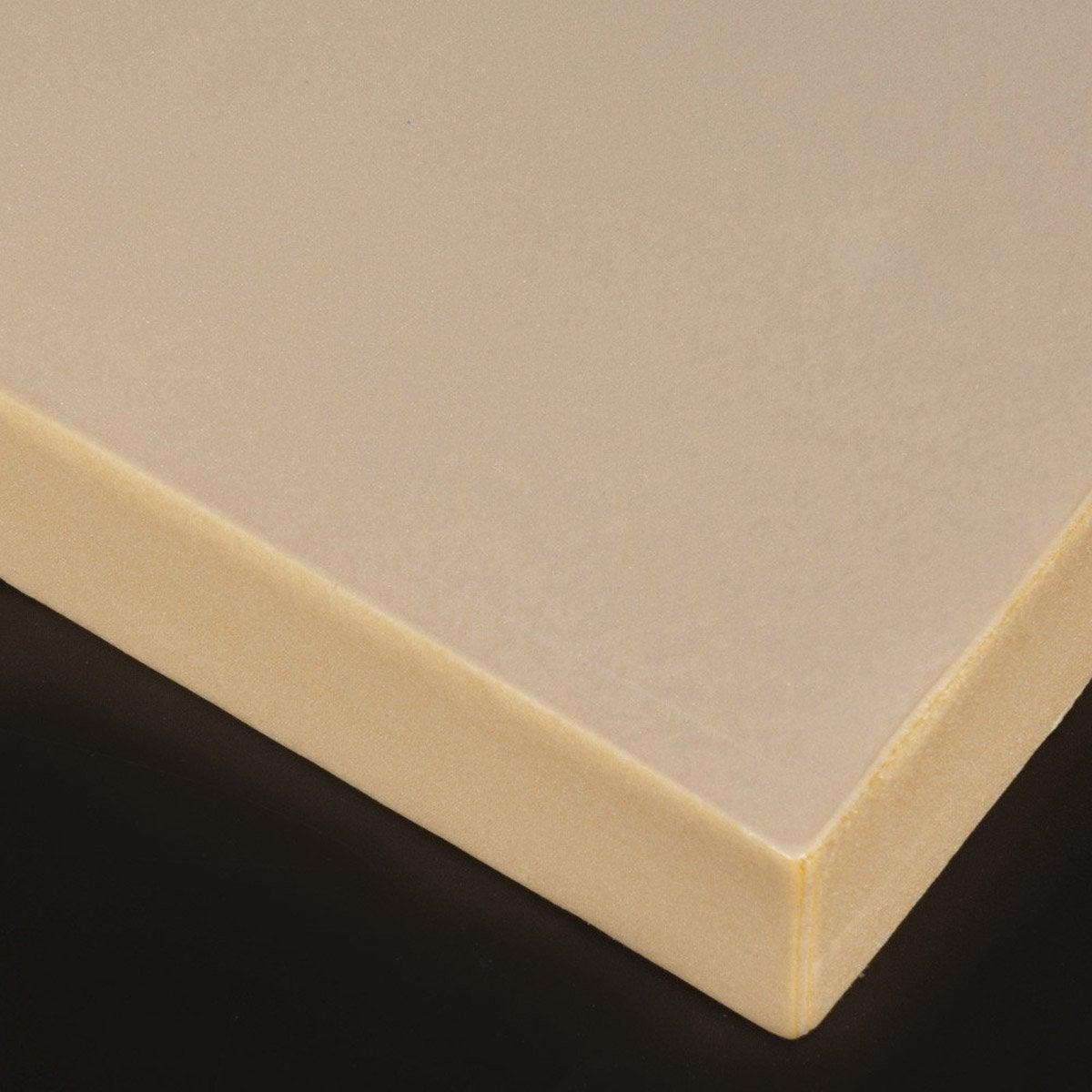 plaque polystyrène 30 mm marron mat l100 x 50 cm  leroy