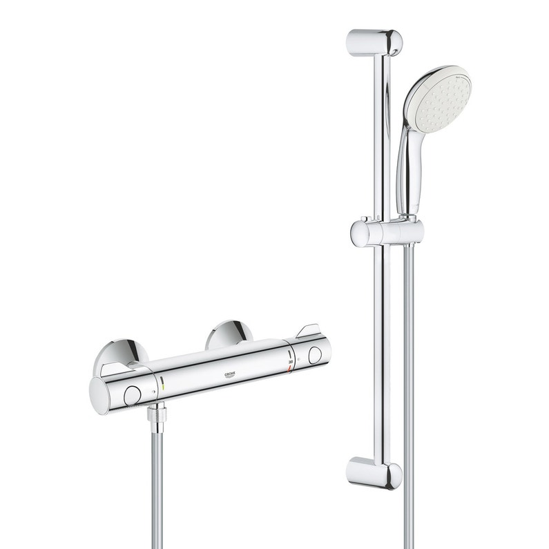 Mitigeur Thermostatique Chrome Brillant Grohe Grohtherm 800