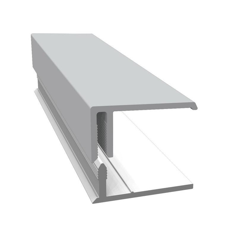 Profil De Bordure En U Pvc 36x20 Freefoam Gris Ciment Ral 7047 3 M