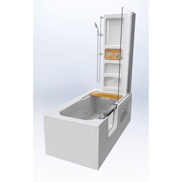 baignoire porte baignoire douche salle de bains au meilleur prix leroy merlin. Black Bedroom Furniture Sets. Home Design Ideas