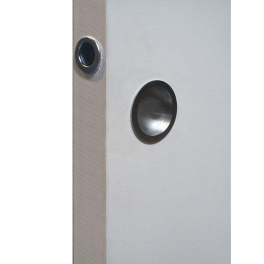 Poign e tire doigt pour porte coulissante pleine ou vitr e eclisse leroy - Porte coulissante pleine ...