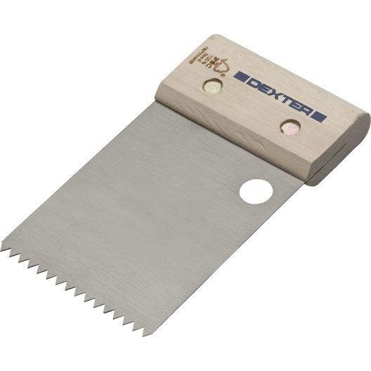 Couteau colle pour carrelage et mur dexter 8cm leroy for Colle pour carrelage