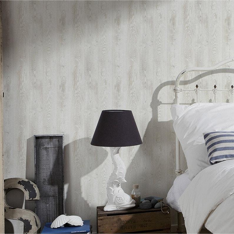 papier peint intiss planche bois blanc leroy merlin. Black Bedroom Furniture Sets. Home Design Ideas