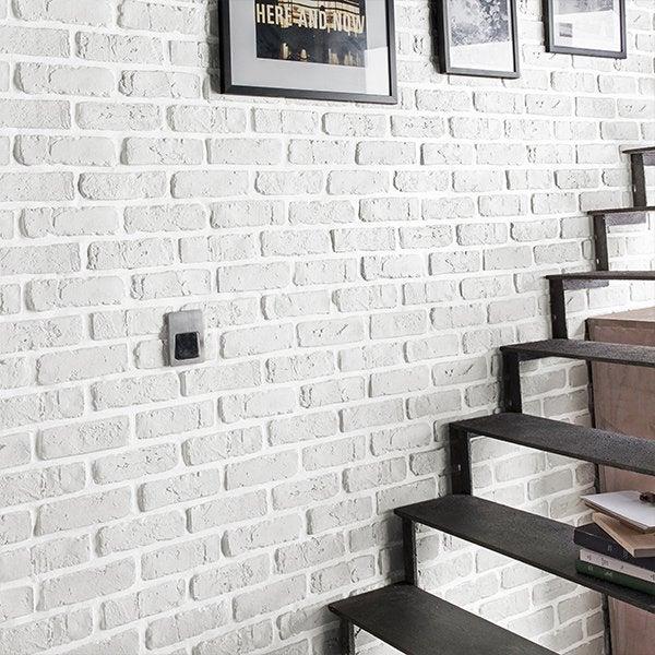 Avec ou sans joint - Brique decorative blanche ...