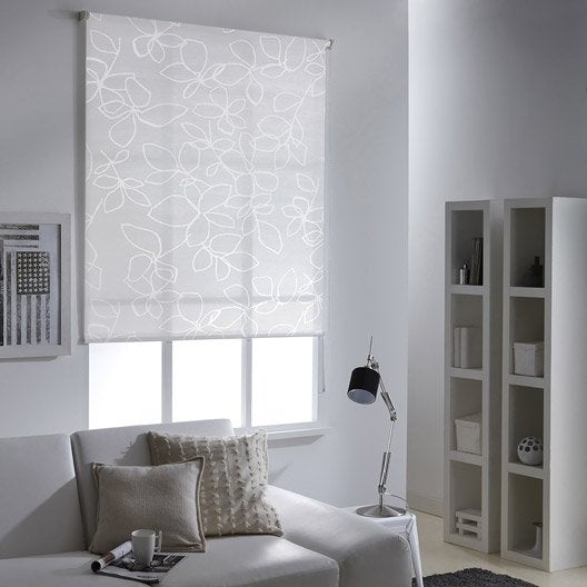 store enrouleur tamisant santorini blanc 125x190 cm leroy merlin. Black Bedroom Furniture Sets. Home Design Ideas