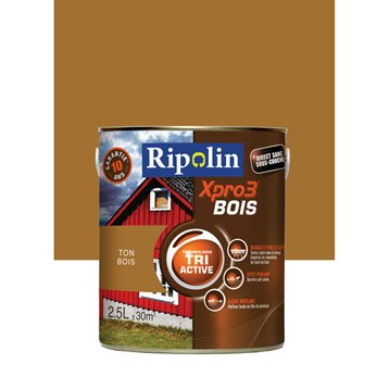 Peinture bois extérieur / intérieur Xpro 3 RIPOLIN, ton bois, 2.5 l