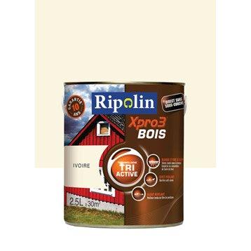 Peinture bois extérieur / intérieur XPro3 RIPOLIN, satin ivoire, 2.5L