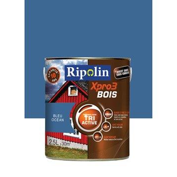 Peinture bois extérieur / intérieur Xpro 3 RIPOLIN, bleu océan, 2.5 l