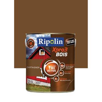 Peinture bois extérieur / intérieur Xpro 3 RIPOLIN, châtaigner, 2.5 l