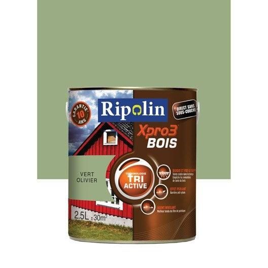 Peinture bois ext rieur int rieur xpro 3 ripolin vert for Type de peinture interieur