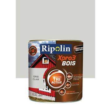 Peinture bois extérieur / intérieur XPro3 RIPOLIN, satin gris clair, 0.5L