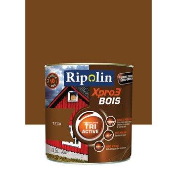 Peinture bois extérieur / intérieur XPro3 RIPOLIN, satin teck, 0.5L