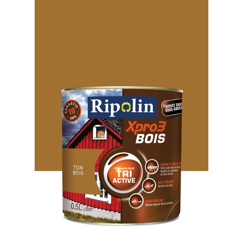 Peinture Bois Exterieur Interieur Xpro 3 Ripolin Ton Bois 0 5 L