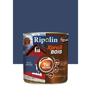 Peinture bois extérieur / intérieur XPro3 RIPOLIN, satin bleu marine, 0.5L