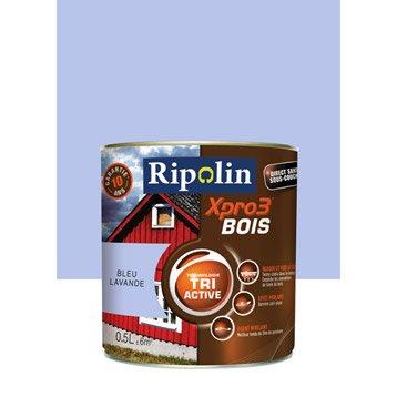 Peinture bois extérieur / intérieur XPro3 RIPOLIN, satin bleu lavande, 0.5L