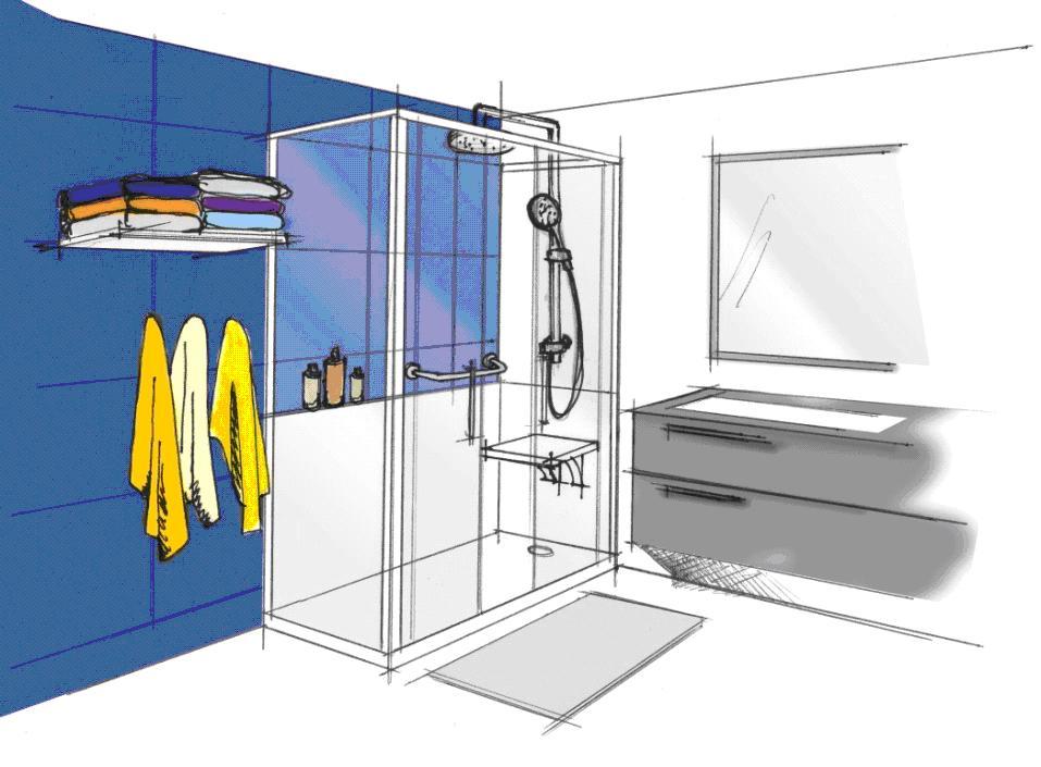 Cabine de douche ou douche italienne finest cabine de douche en briques de verre avec un - Cabine de douche italienne ...