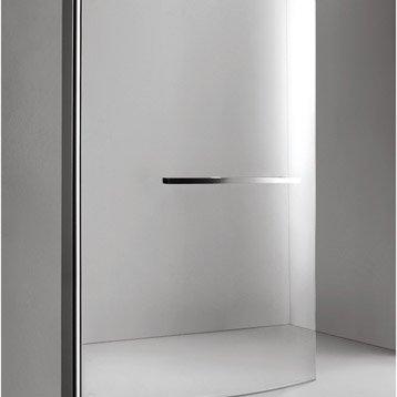 Pare-baignoire 1 volet courbe verre de sécurité 6 mm transparent, Purity3