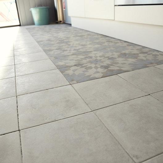 carrelage sol et mur ivoire effet ciment arlequin x cm leroy merlin. Black Bedroom Furniture Sets. Home Design Ideas