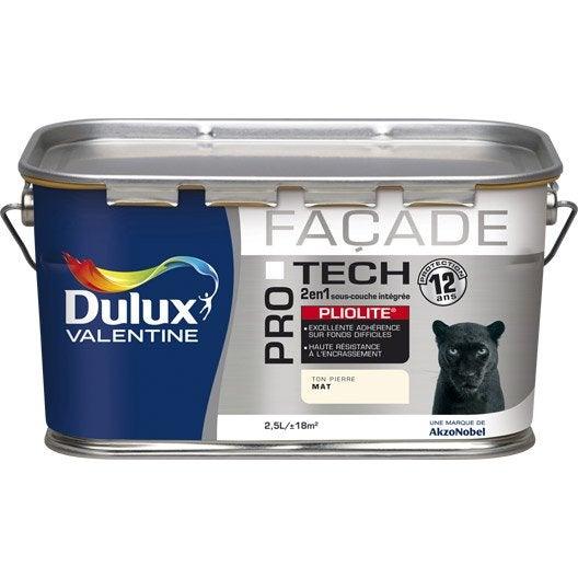 Peinture fa ade protech pliolite dulux valentine blanc 2 for Peinture facade pliolite