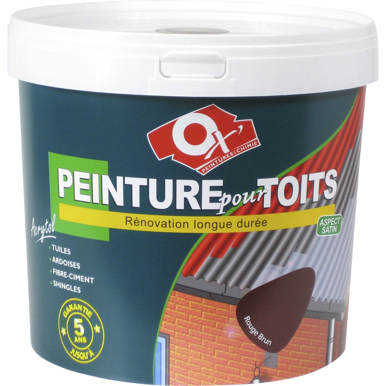 Brun10 Peinture Extérieur L Toiture Acrytol OxytolRouge bf76gyvIY