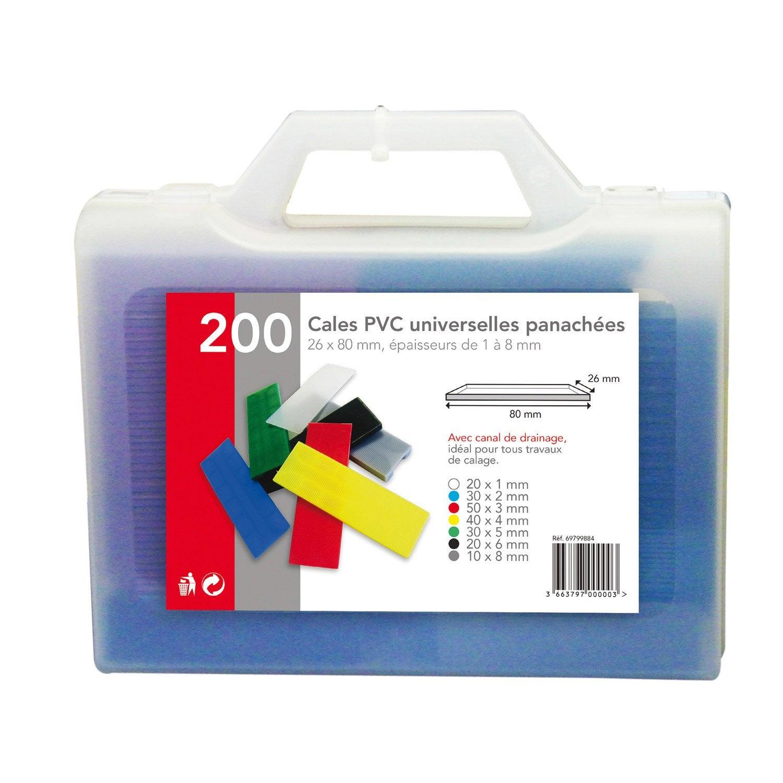 Valisette De 200 Cales L 22 X L 24 Cm Leroy Merlin ~ Cale Plastique Pour  Terrasse Bois Leroy Merlin
