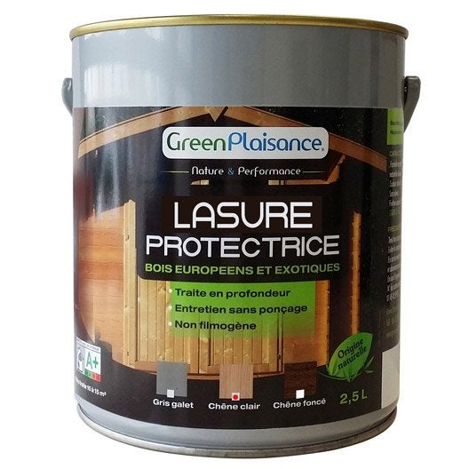 lasure pour bois green plaisance ch ne clair 2 5 l leroy merlin. Black Bedroom Furniture Sets. Home Design Ideas