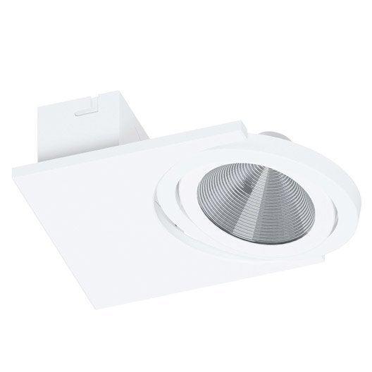 spot pat re led 1 x led int gr e blanc br a eglo leroy merlin. Black Bedroom Furniture Sets. Home Design Ideas