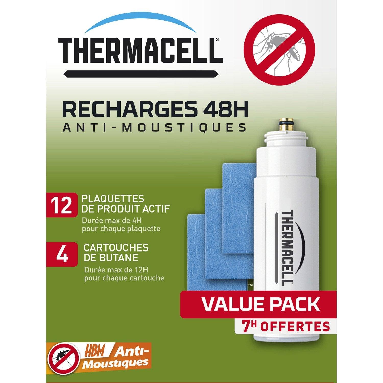 recharge antimoustiques thermacell 4 cartouches de butane 12 plaquettes de prod leroy merlin. Black Bedroom Furniture Sets. Home Design Ideas