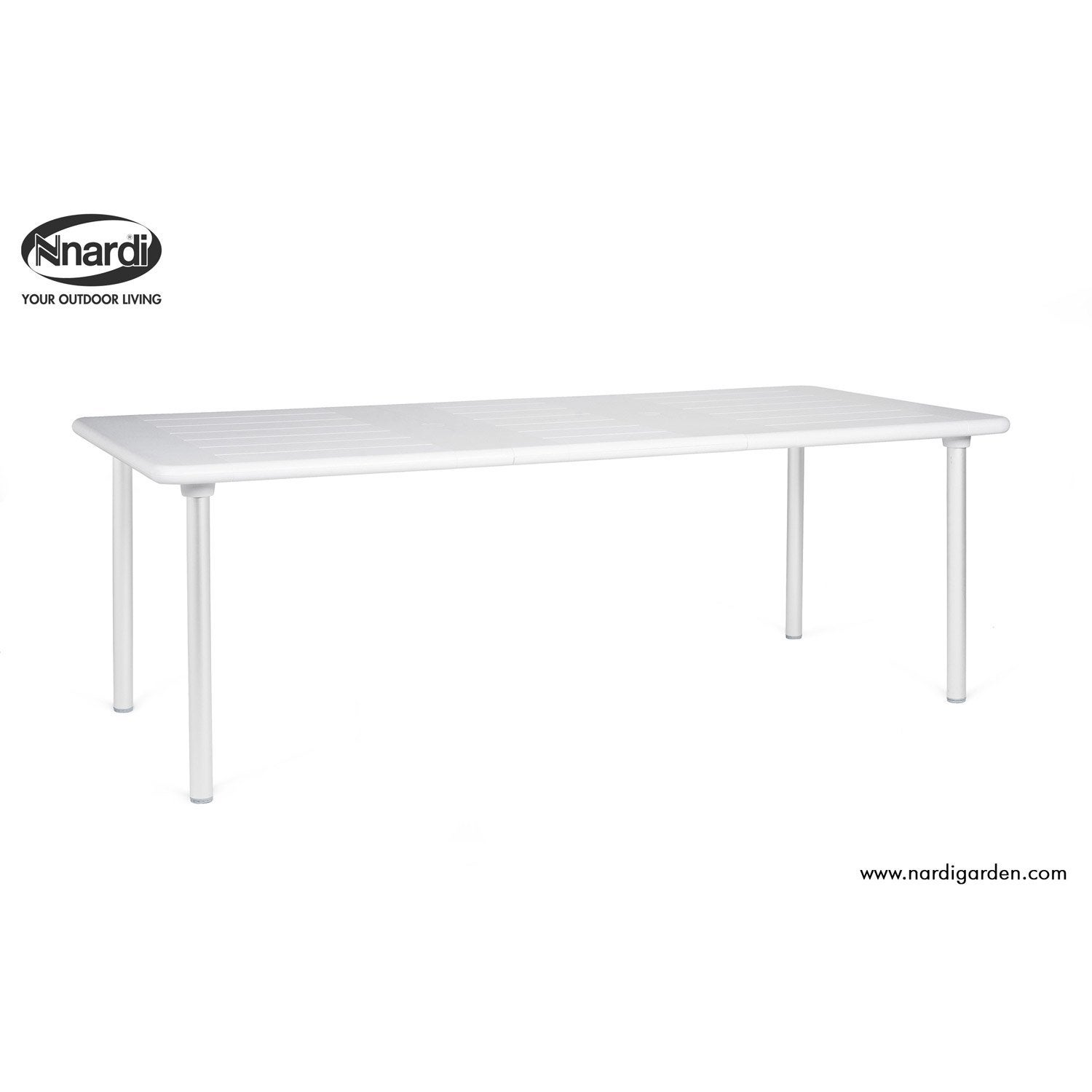 table de jardin nardi maestrale rectangulaire blanc et aluminium 8 personnes leroy merlin. Black Bedroom Furniture Sets. Home Design Ideas