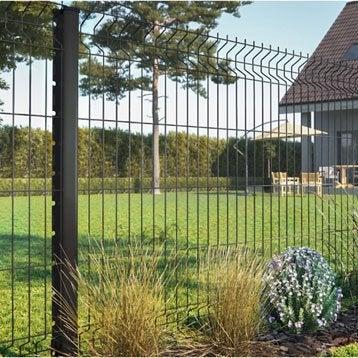 Grillage panneau Soudé Naterial gris H.1.03 x L.2.5m, maille 200x50mm