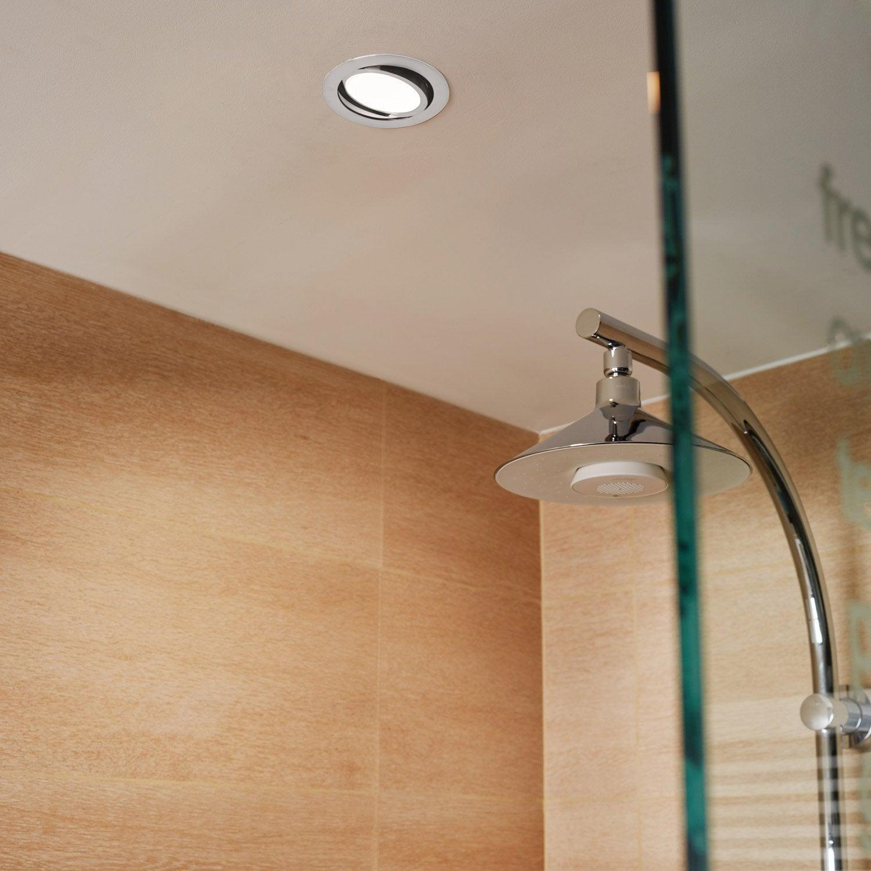 Kit 1 Spot Encastrer Salle De Bains Lindi Orientable INSPIRE LED Intégrée  Blanc