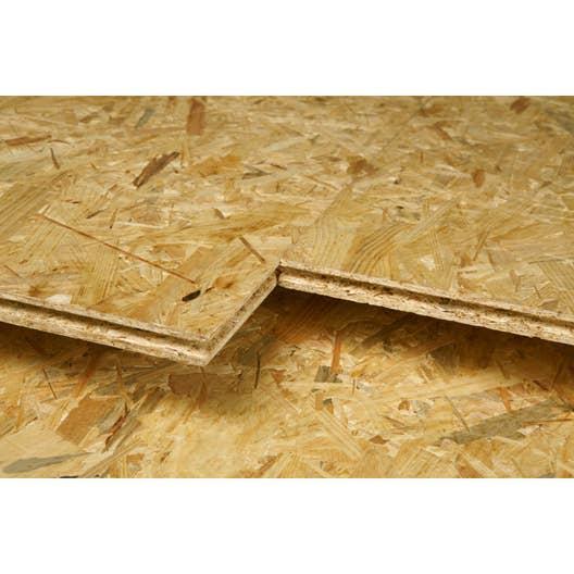 Dalle De Plancher Osb 4 Naturel Ep 18 Mm X L 67 5 X L 250 Cm