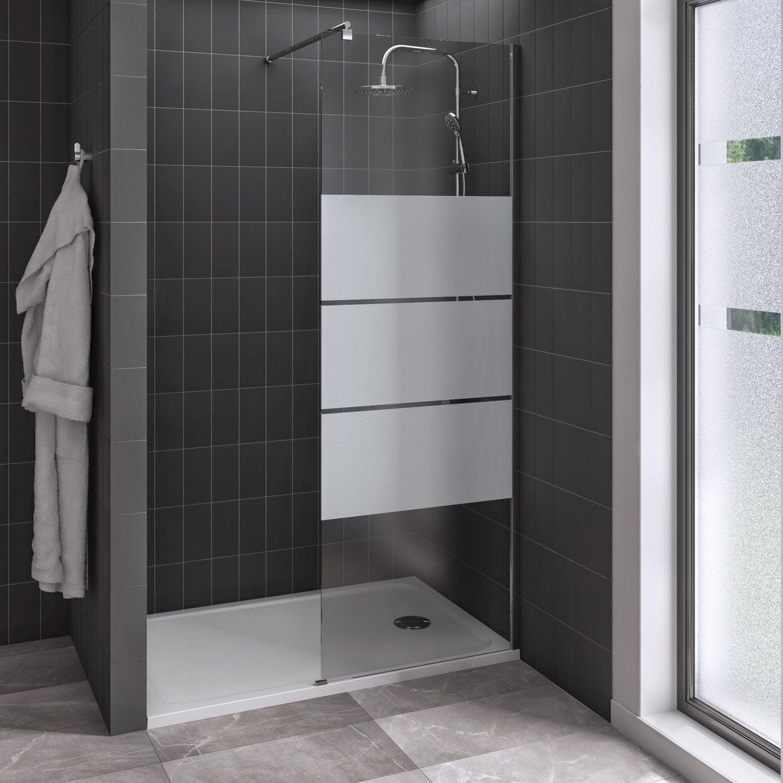 Douche à L Italienne Easy Avec Receveur Mila Blanc 80x120 Cm