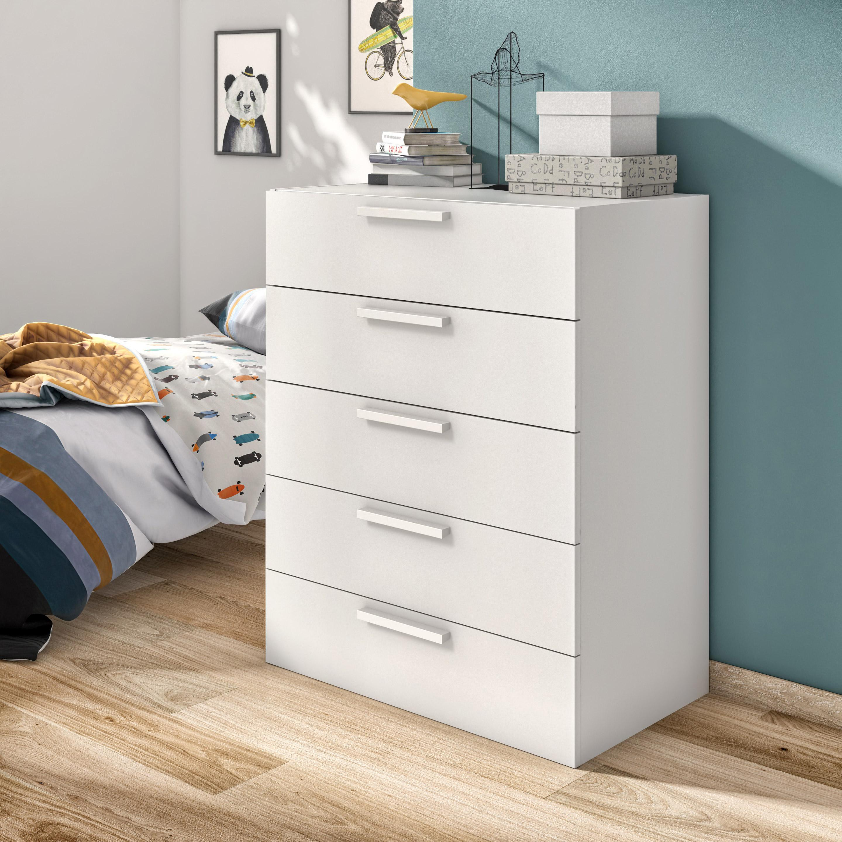 Commode Spaceo Home Blanc H 100 X L 80 X P 45 Cm Leroy Merlin